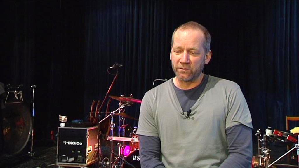 David Koller na zvukové zkoušce