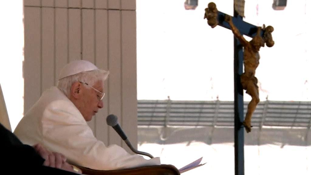 Papež Benedikt  XVI. na generální audienci