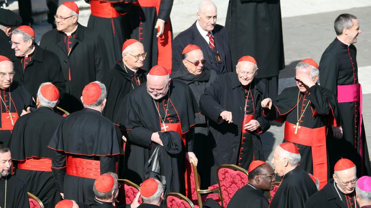 Kardinálové se shromažďují na poslední generální audienci Benedikta XVI.