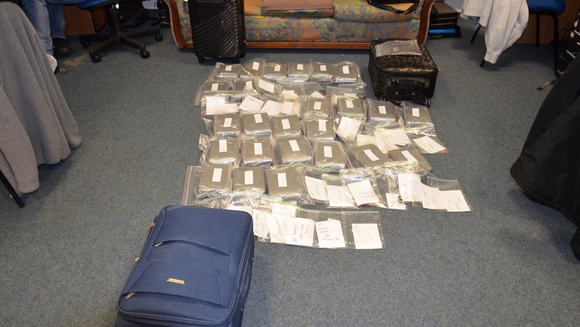 Zavazadla obsahovala 31 kg kokainu