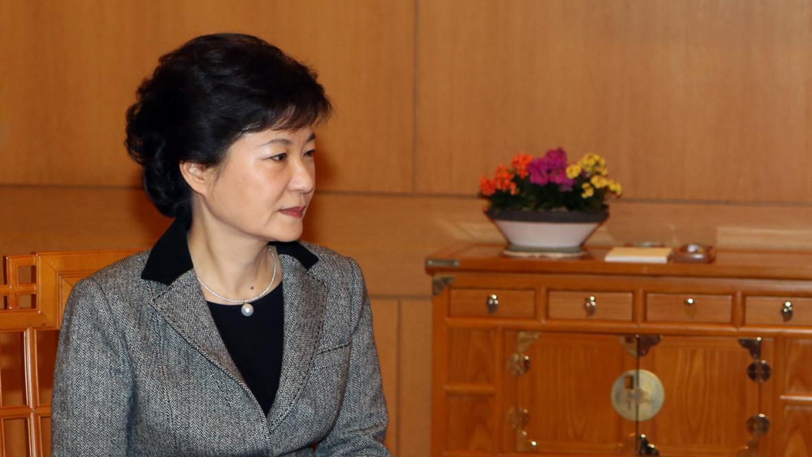 Korejská prezidentka Pak Kun-hje