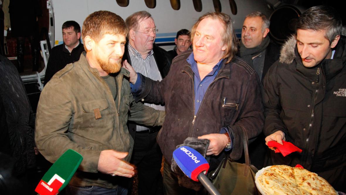 Ramzan Kadyrov a Gérard Depardieu