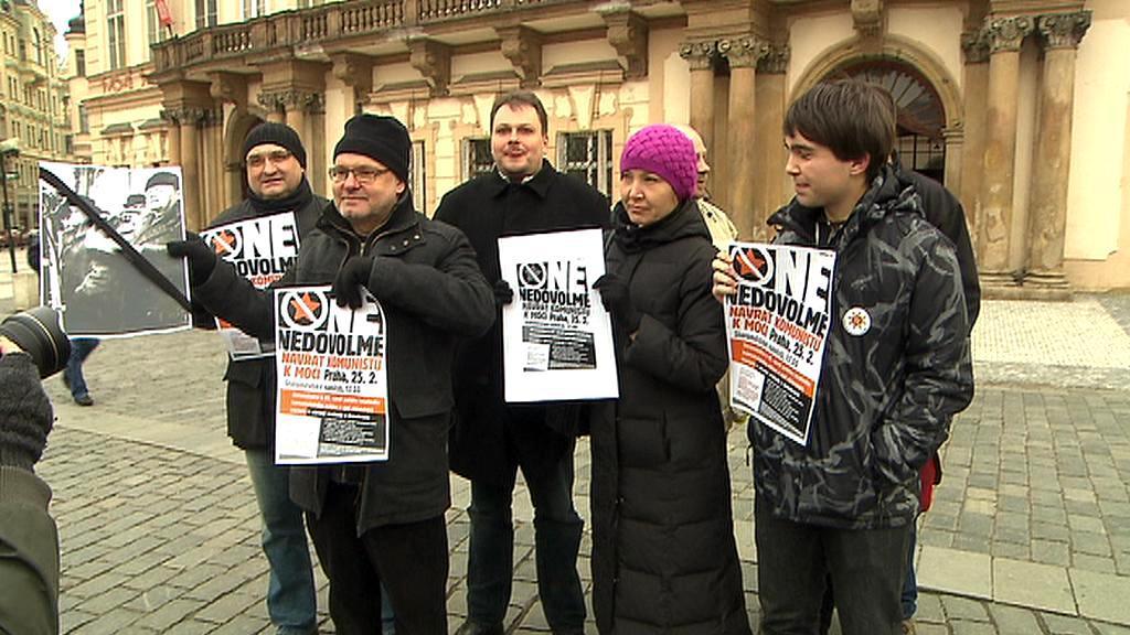 Protikomunistická demonstrace na Staroměstském náměstí