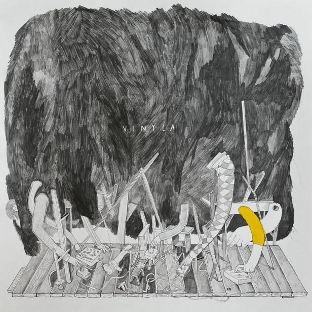 Obal Vinyla od výtvarníka Böhma a Franty