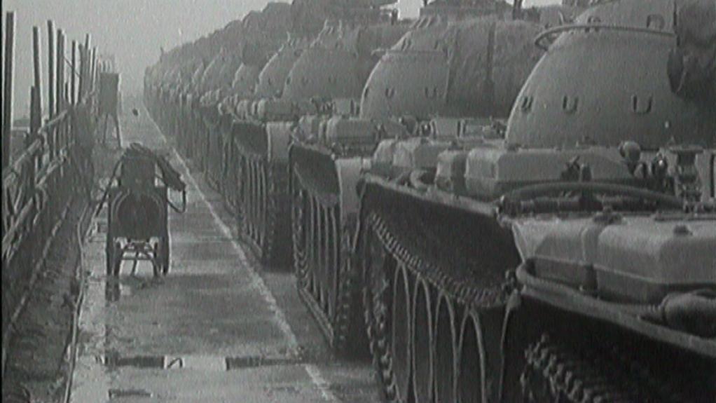 Tanky na Nuselském mostě