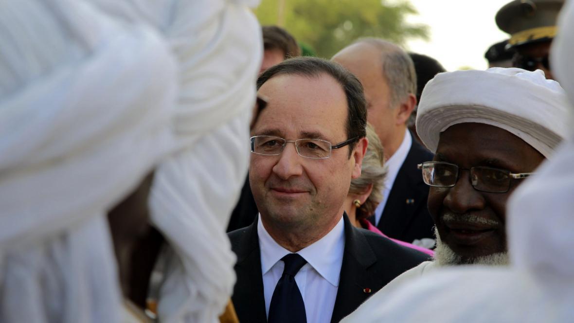 Francouzský prezident Hollande v Mali