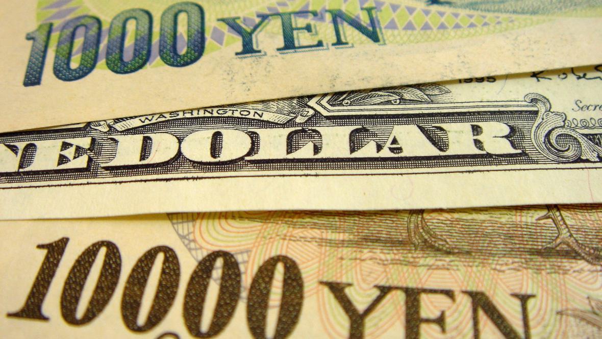 Japonský jen versus dolar