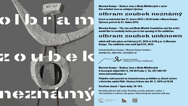 Pozvánka na výstavu Olbrama Zoubka