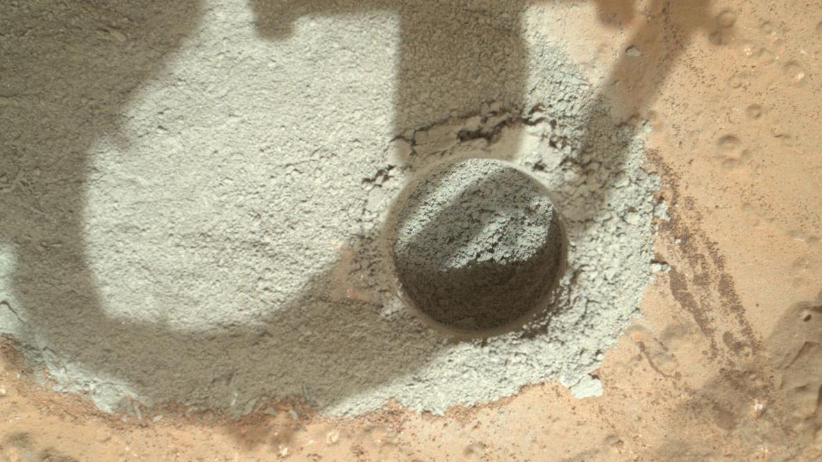 Vrt sondy Curiosity na Marsu