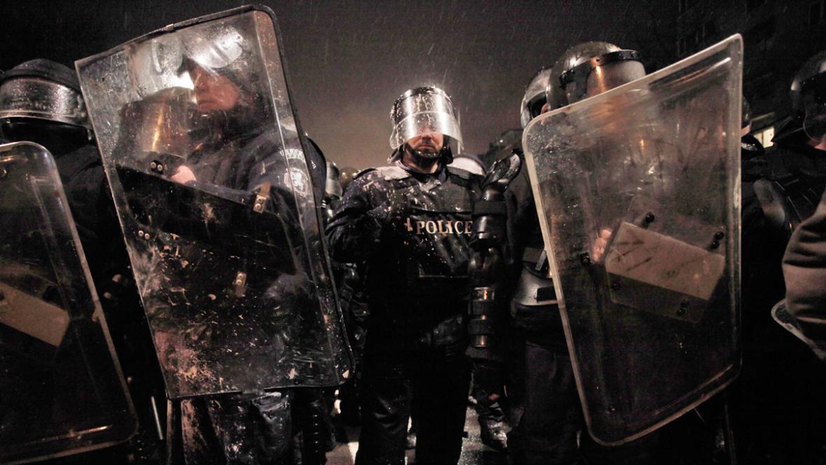Bulharská policie zasahuje proti demonstrantům