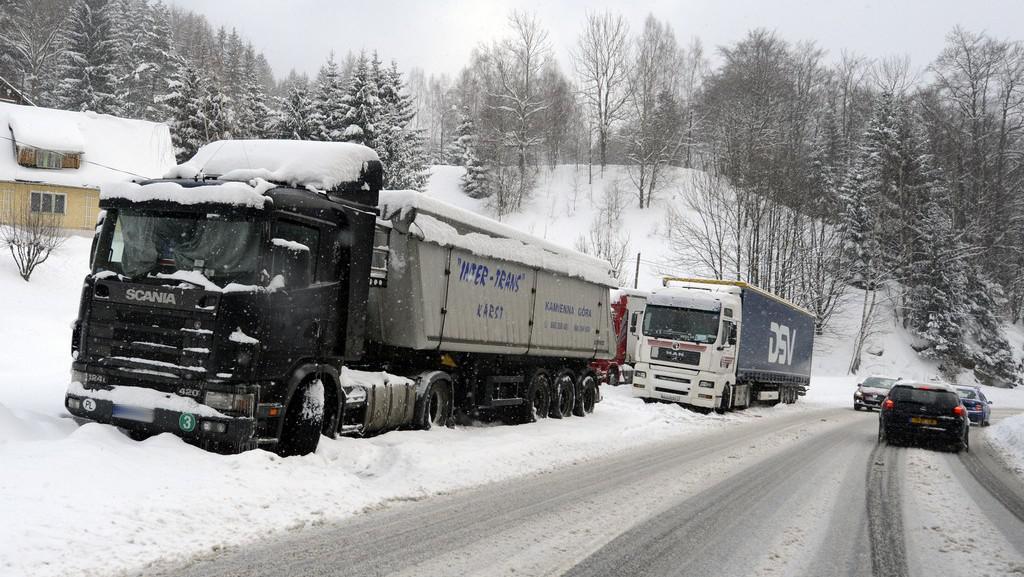 Zapadlé kamiony