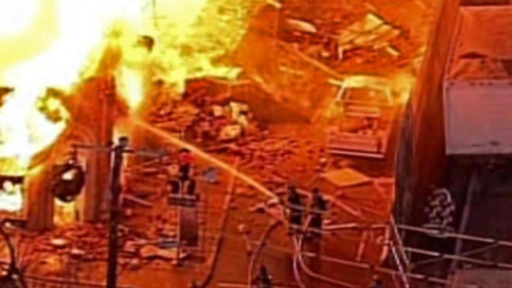 Likvidace požáru obchodního střediska v Kansas City