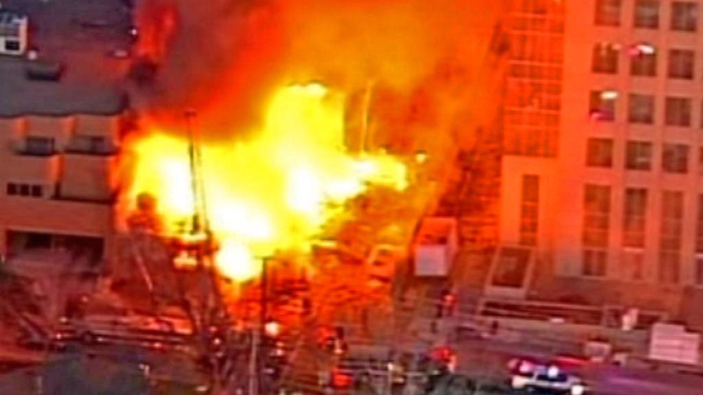 Požár obchodního střediska v Kansas City