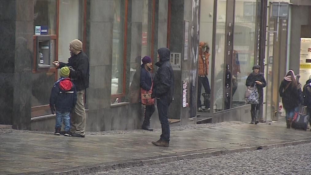 Bankomat v centru Brna na Panské ulici