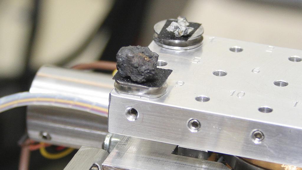 Nalezené úlomky meteoritu