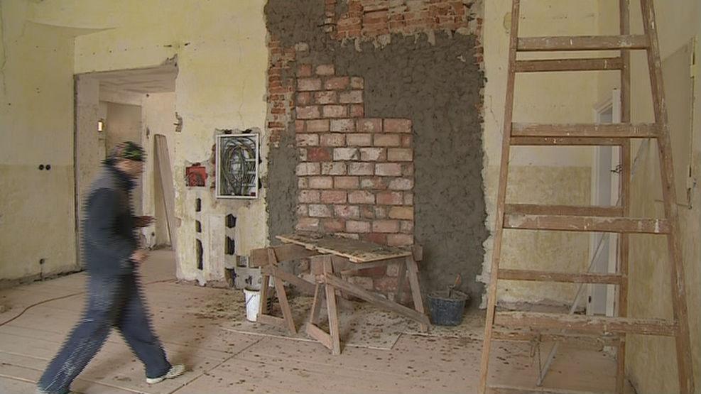 Opravy interiéru zámku v Moravském Krumlově