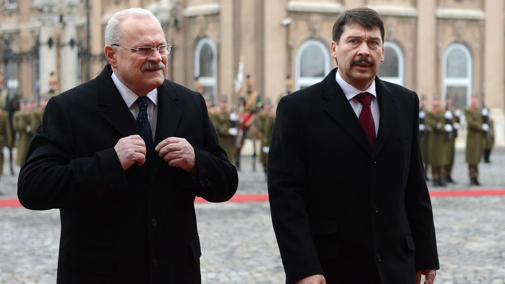 Ivan Gašparovič s Jánosem Áderem