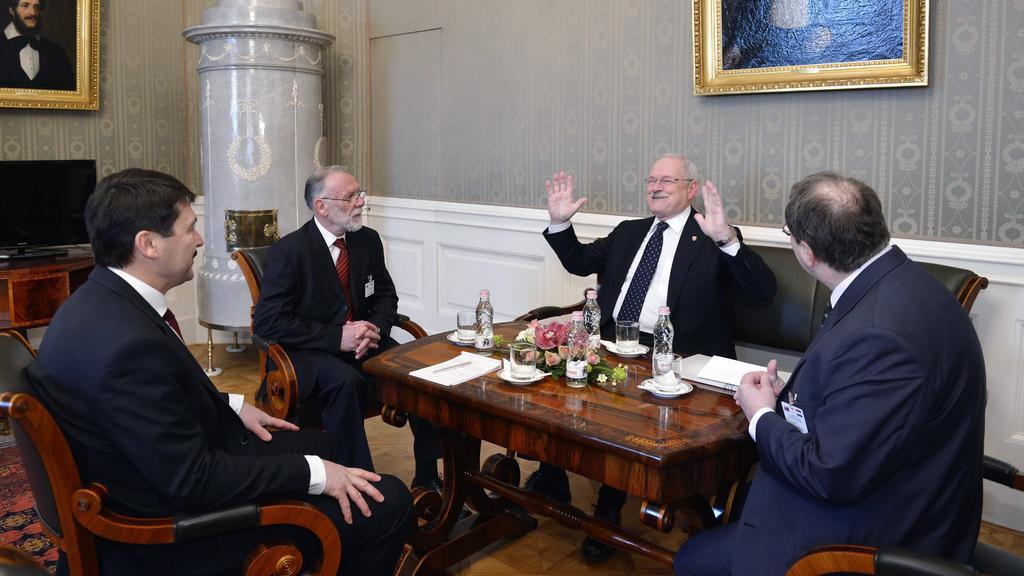 Setkání Ivana Gašparoviče a Jánose Ándera