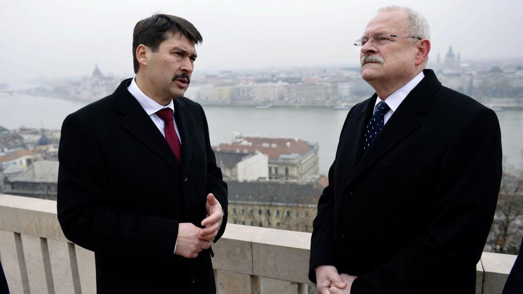Ivan Gašparovič na státní návštěvě Maďarska