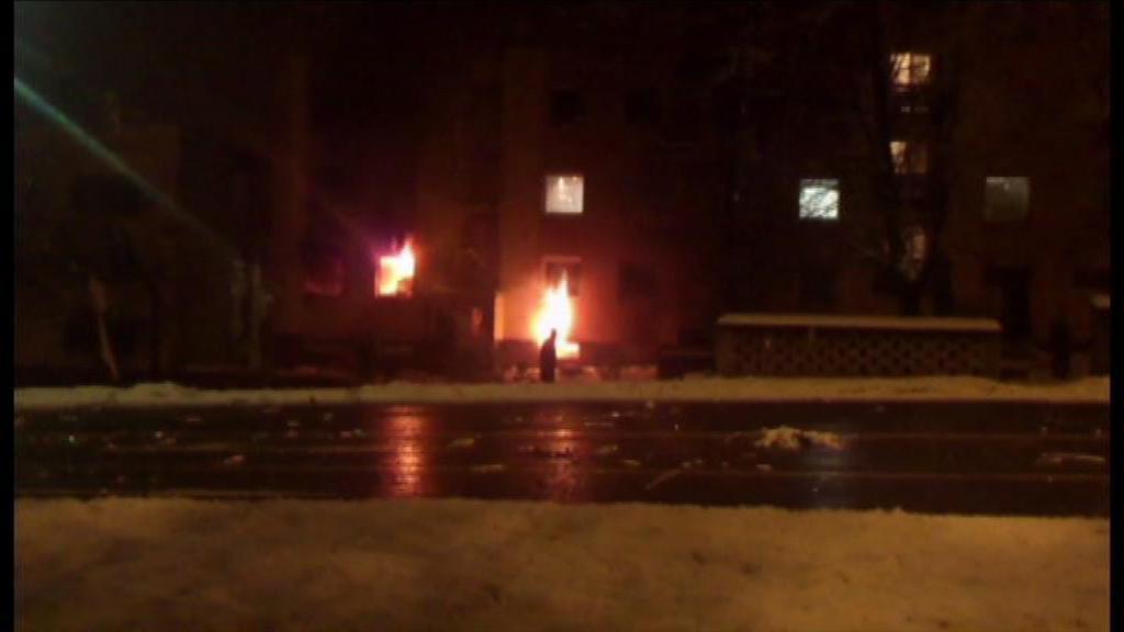 Foto z místa výbuchu