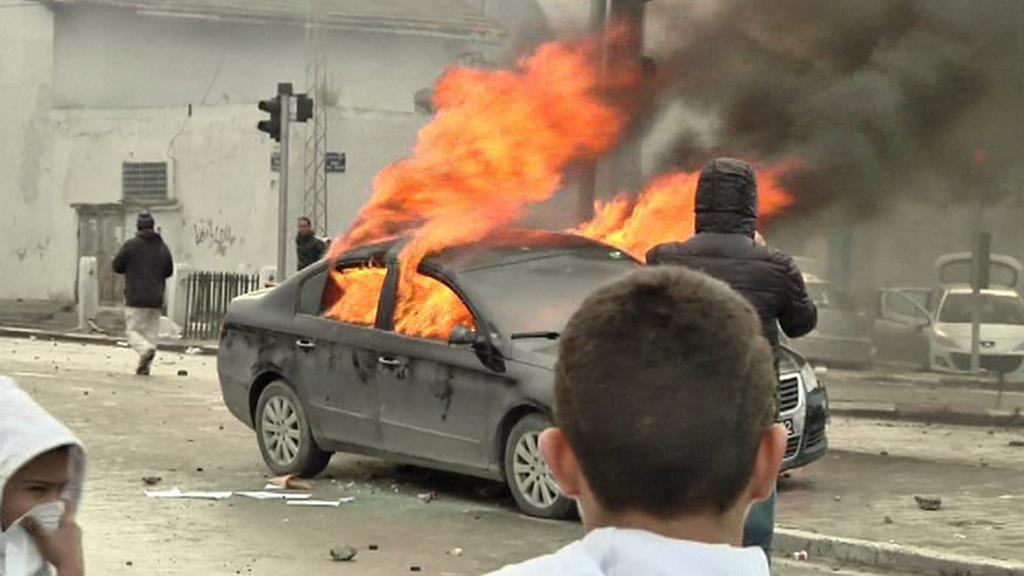 Protesty v Tunisku