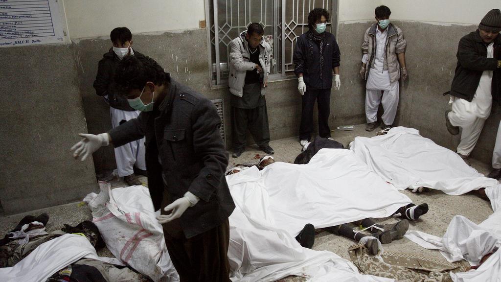 Oběti výbuchu na tržišti v Kvétě