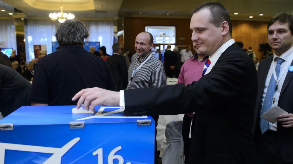 Vít Bárta na volební konferenci VV
