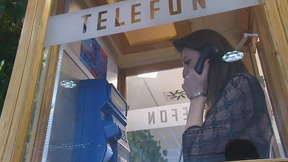 Veřejný telefonní automat na poště