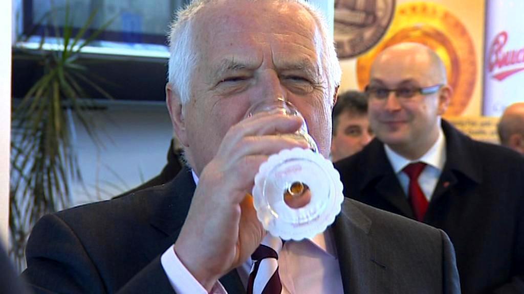 Václav Klaus v pivovaru