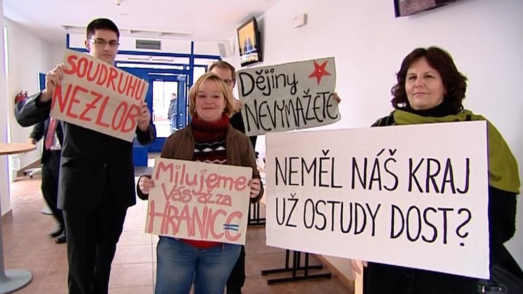 Protest proti radnímu Sloupovi