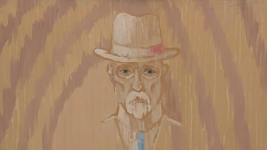 Jedno ze známých děl Tomáše Císařovského je civilní portrét TGM