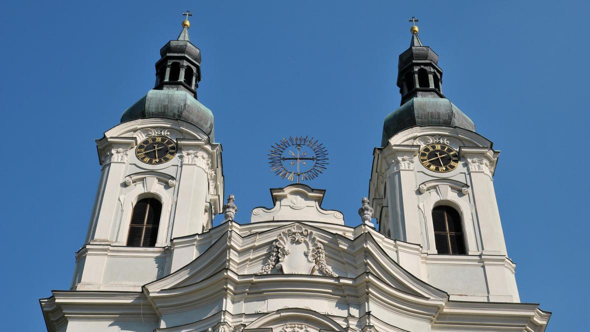 Barokní kostel v Karlových Varech