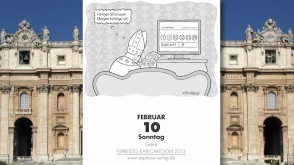 Kalendář předpověděl odchod papeže