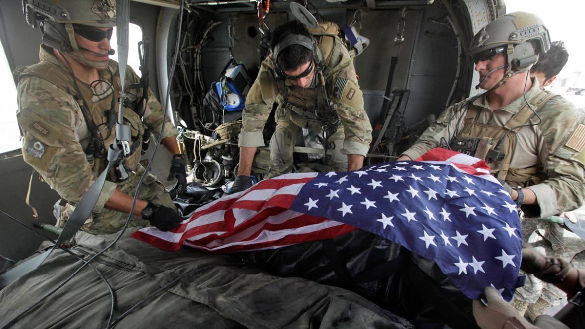 Ostatky amerického vojáka zabitého v Afghánistánu