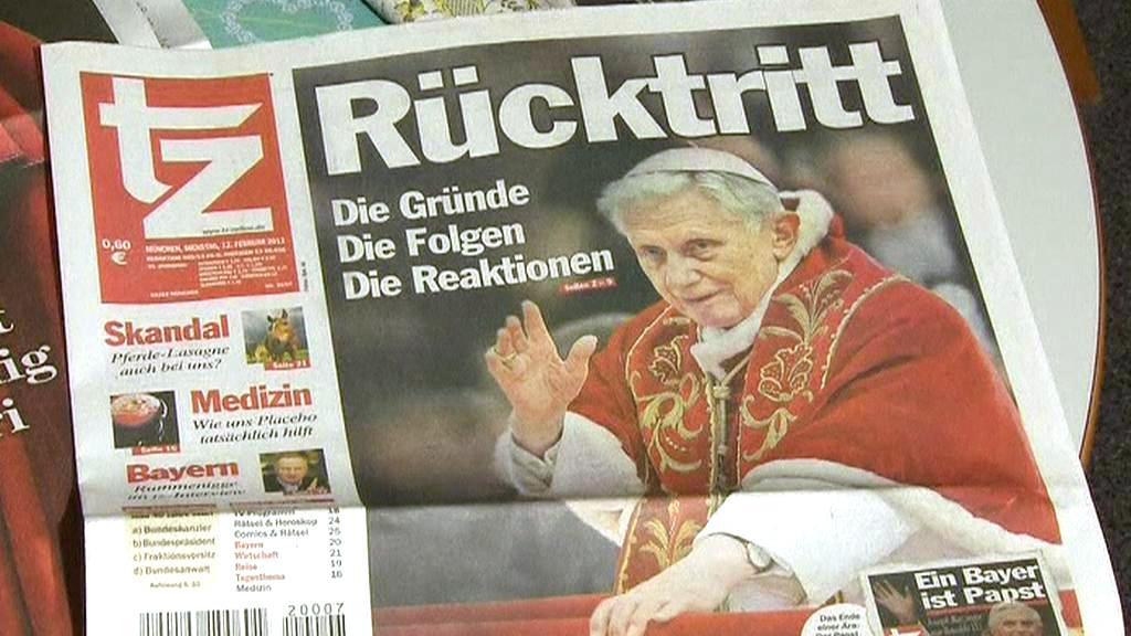 Tisk o odchodu papeže