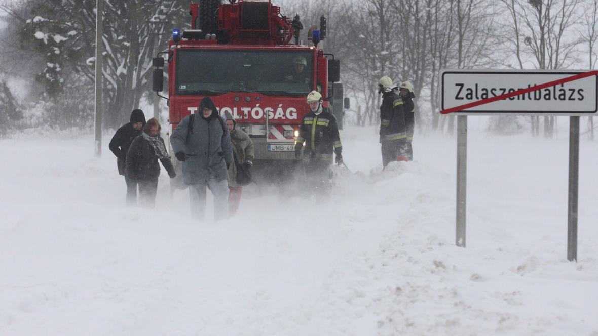 Sněhová kalamita v Maďarsku