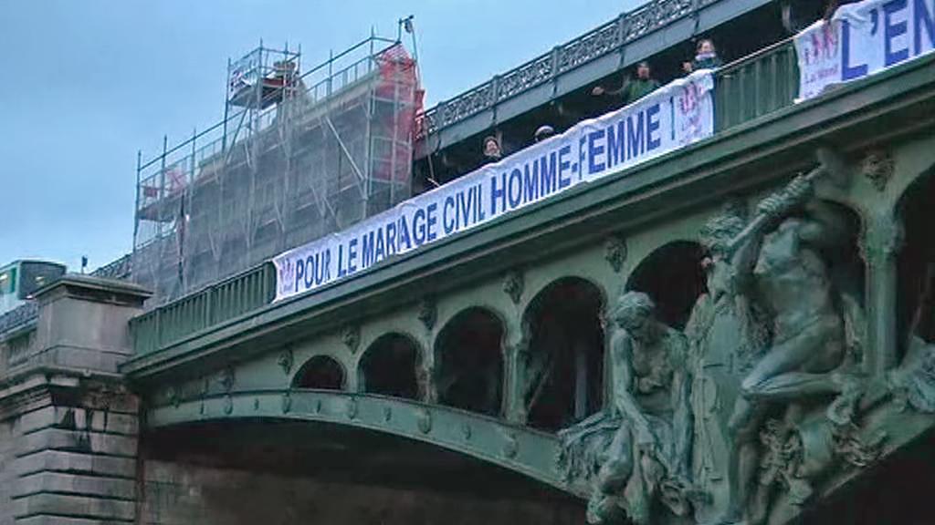 Demonstrace odpůrců homosexuálních sňatků