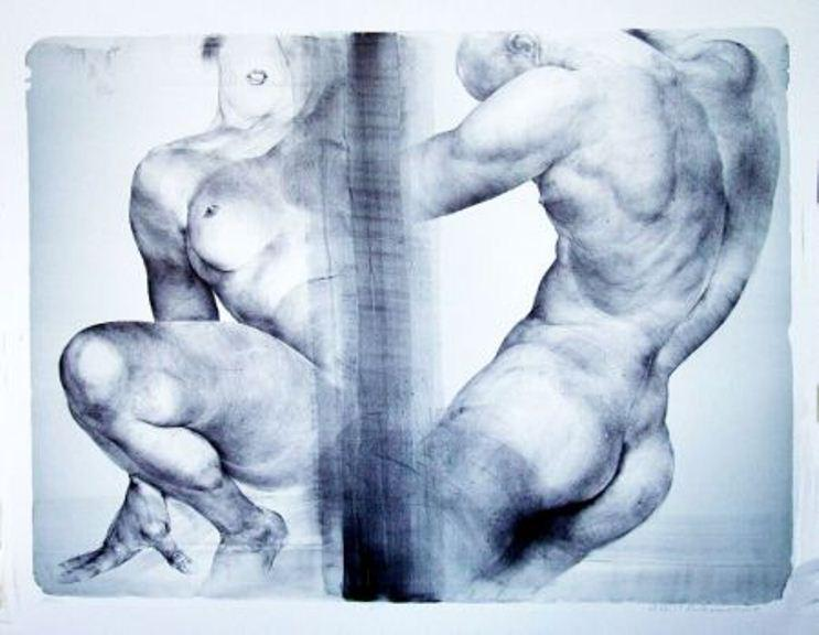 Oldřich Kulhánek / Life -  litografie 2006