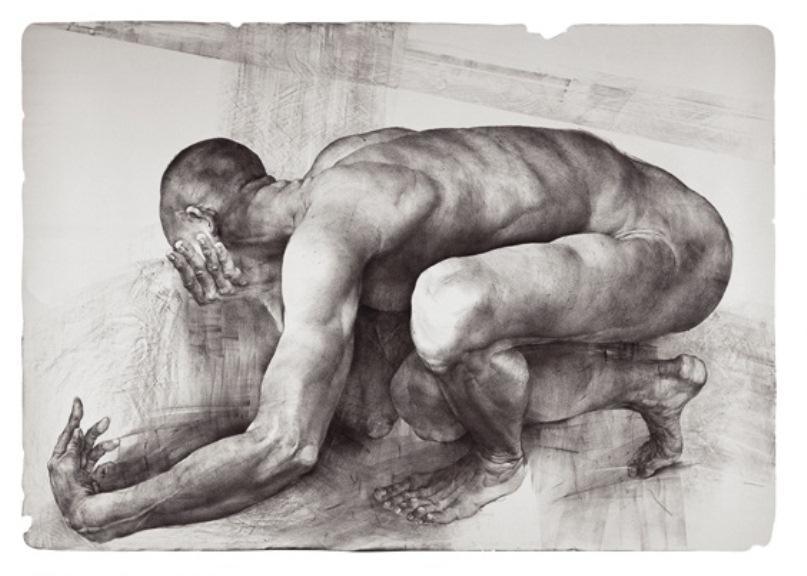 Oldřich Kulhánek / Job No. 1 - litografie 2002
