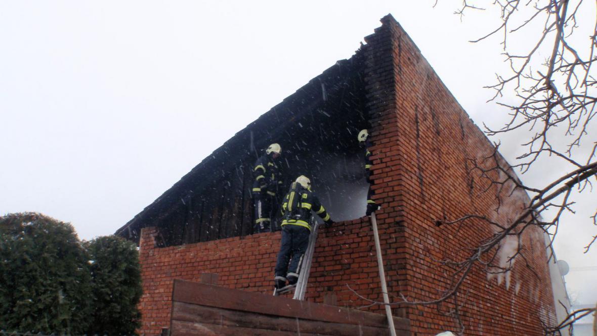 Požár ve Chvalčově