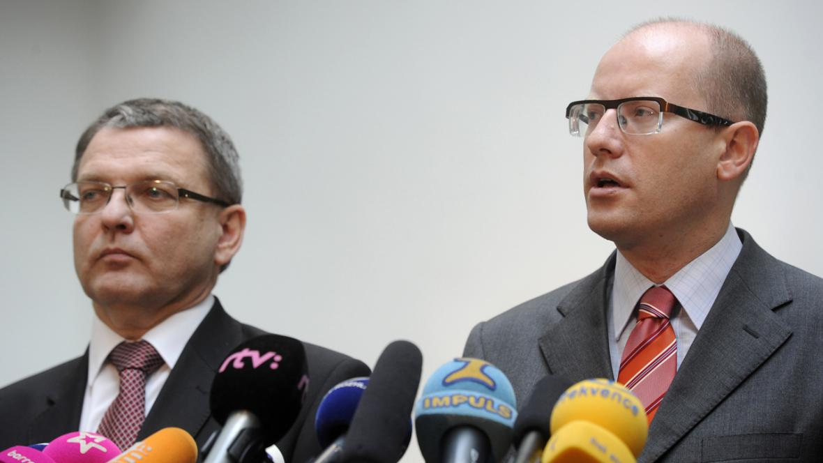 Lubomír Zaorálek a Bohuslav Sobotka