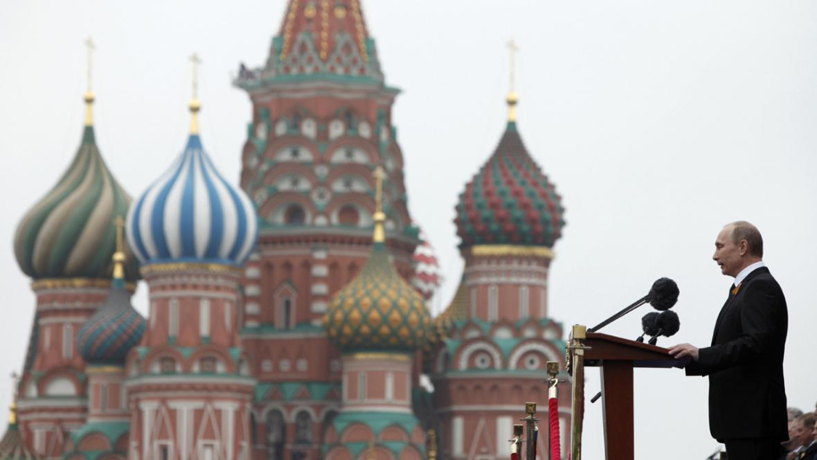 Ruský prezident Vladimir Putin na oslavách výročí konce války v Moskvě