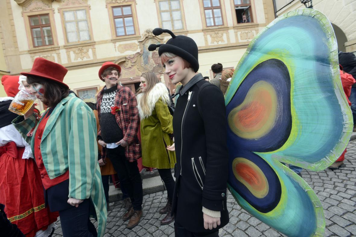 Masopustní průvod v Praze