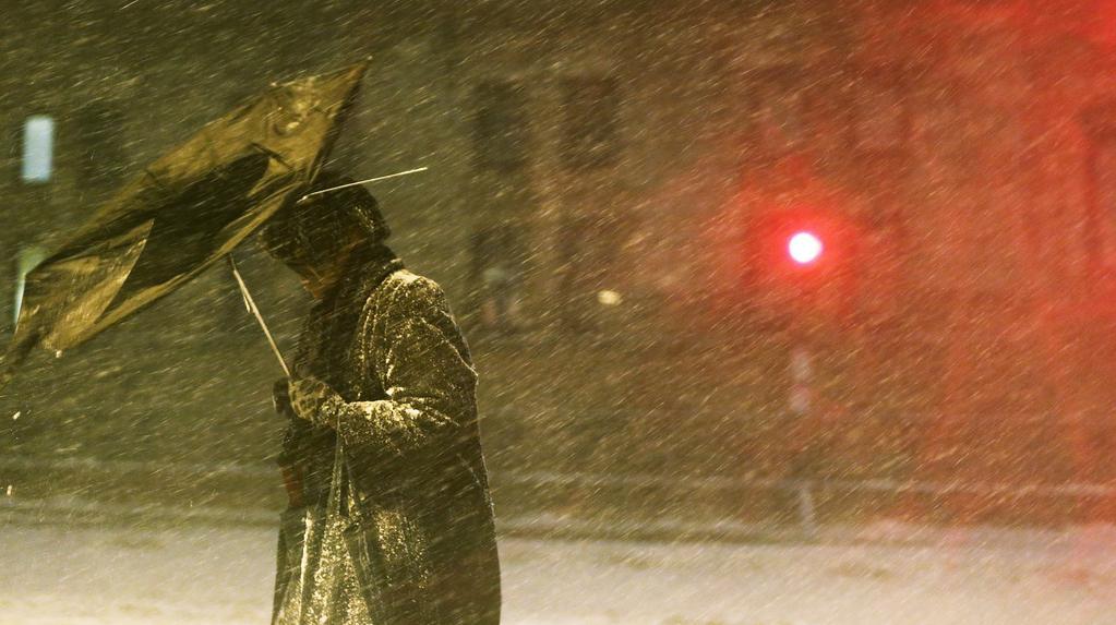 Sněhová bouře v Bostonu