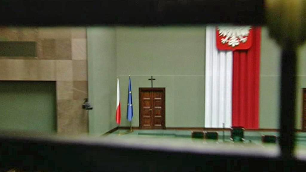 Kříž v polském Sejmu
