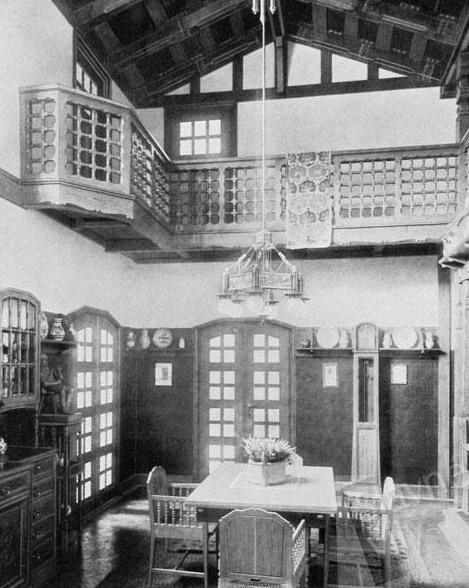 Jurkovičova vila v Brně (1905) - interiér