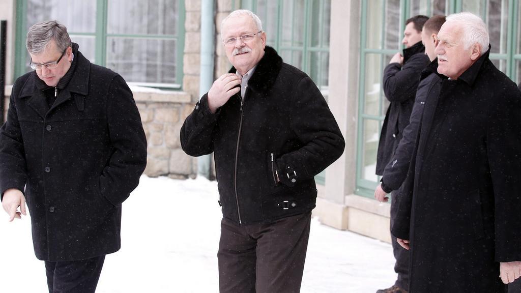 Komorowski, Gašparovič a Klaus na setkání v Polsku