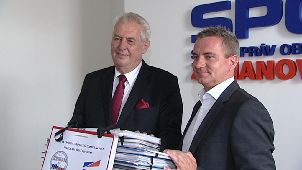 Miloš Zeman a Vratislav Mynář