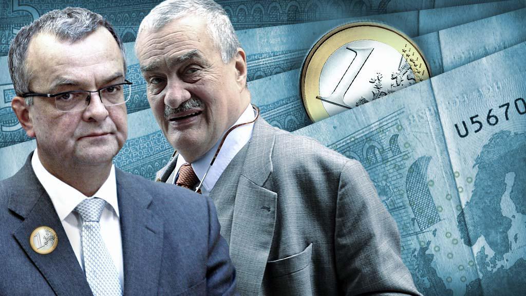 Miroslav Kalousek, Karel Schwarzenberg a euro