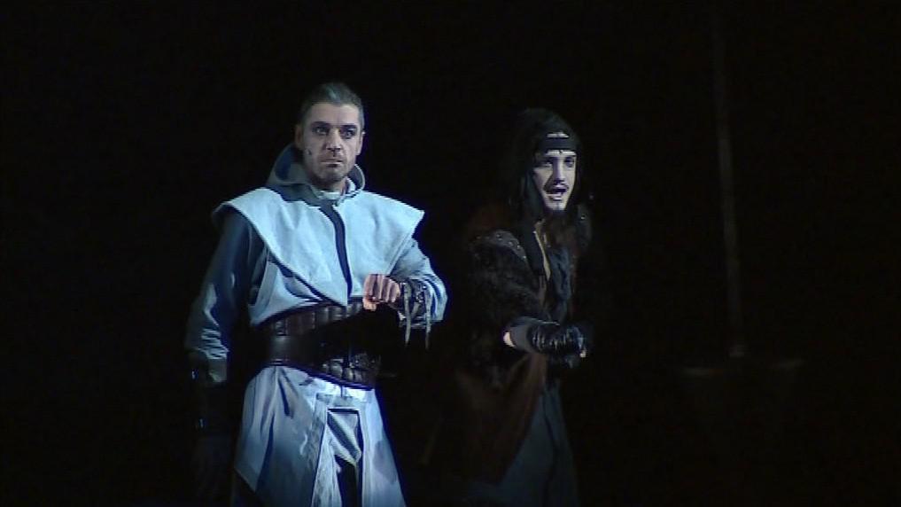 V roli rytíře se představí Pavel Doucek (vlevo)